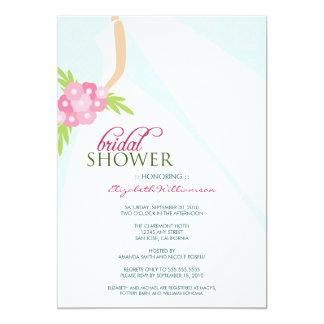Invitación nupcial de la ducha del boda Dress_2