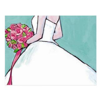 Invitación nupcial de la ducha del boda postal