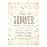 Invitación nupcial de la ducha del confeti de la m