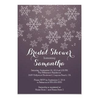 Invitación nupcial de la ducha del copo de nieve invitación 12,7 x 17,8 cm