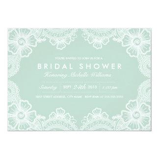 Invitación nupcial de la ducha del cordón invitación 12,7 x 17,8 cm