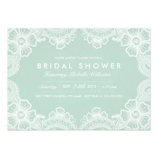Invitación nupcial de la ducha del cordón agraciad