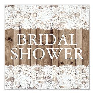 Invitación nupcial de la ducha del cordón blanco