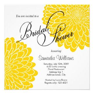 Invitación nupcial de la ducha del crisantemo