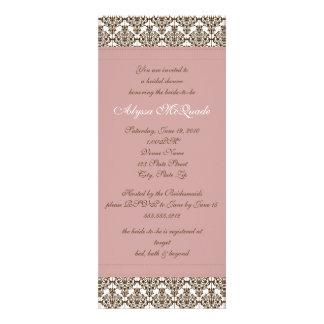 invitación nupcial de la ducha del damasco rosado