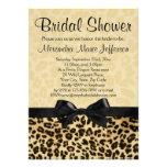 Invitación nupcial de la ducha del estampado leopa