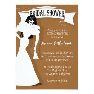 Invitación nupcial de la ducha del fashionista