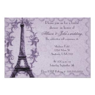 Invitación nupcial de la ducha del Grunge de París