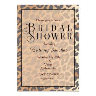 Invitación nupcial de la ducha del guepardo del