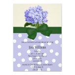 Invitación nupcial de la ducha del Hydrangea Invitación 12,7 X 17,8 Cm
