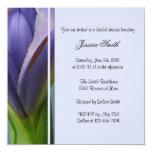 Invitación nupcial de la ducha del iris azul