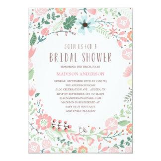 Invitación nupcial de la ducha del jardín de invitación 12,7 x 17,8 cm