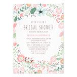 Invitación nupcial de la ducha del jardín de flore