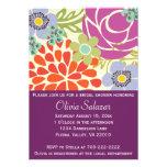 Invitación nupcial de la ducha del jardín floral p