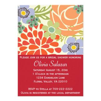 Invitación nupcial de la ducha del jardín floral r