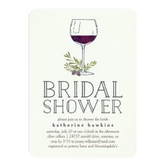 Invitación nupcial de la ducha del lagar o de la