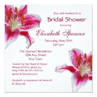 Invitación nupcial de la ducha del lirio del