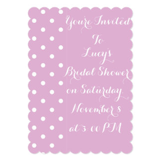 Invitación nupcial de la ducha del lunar rosado invitación 12,7 x 17,8 cm