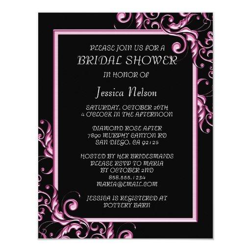 Invitación nupcial de la ducha del marco floral de