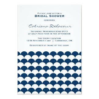 Invitación nupcial de la ducha del modelo de la