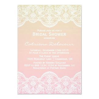Invitación nupcial de la ducha del modelo del