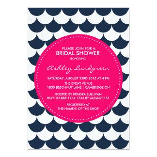 Invitación nupcial de la ducha del modelo náutico