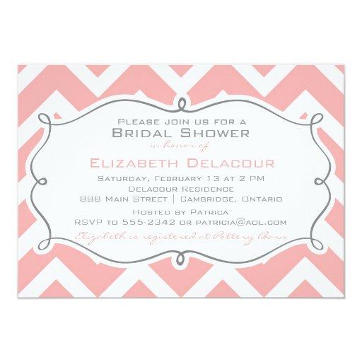 Invitación nupcial de la ducha del modelo rosado