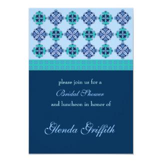 Invitación nupcial de la ducha del mosaico invitación 12,7 x 17,8 cm