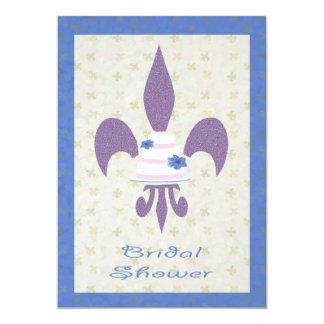 Invitación nupcial de la ducha del pastel de bodas invitación 12,7 x 17,8 cm