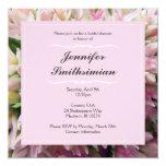 Invitación nupcial de la ducha del ramo rosado