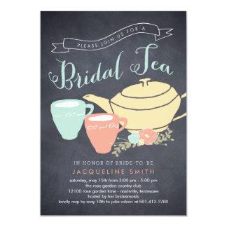 Invitación nupcial de la ducha del té nupcial