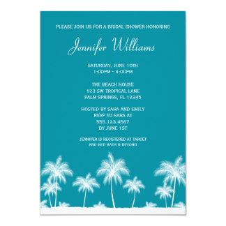 Invitación nupcial de la ducha del trullo tropical