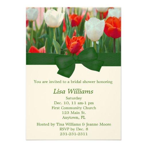 Invitación nupcial de la ducha del tulipán