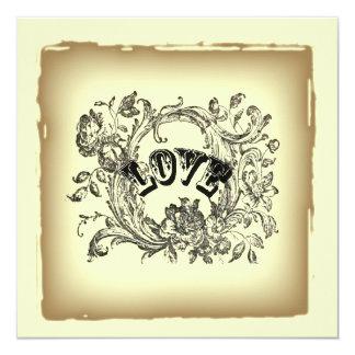 Invitación nupcial de la ducha del Victorian beige Invitación 13,3 Cm X 13,3cm