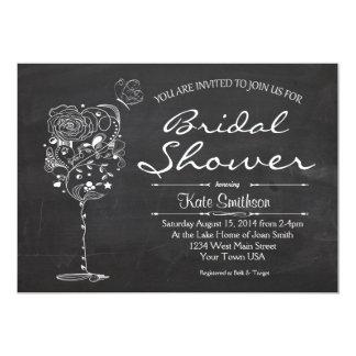 Invitación nupcial de la ducha del vino