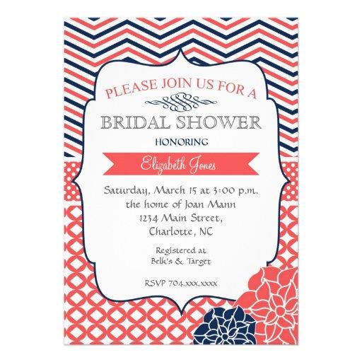 Invitación nupcial de la ducha del vintage de la m