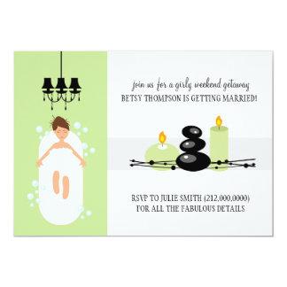Invitación nupcial de la ducha o una partida del