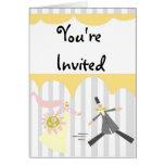 Invitación nupcial de la ducha tarjeta
