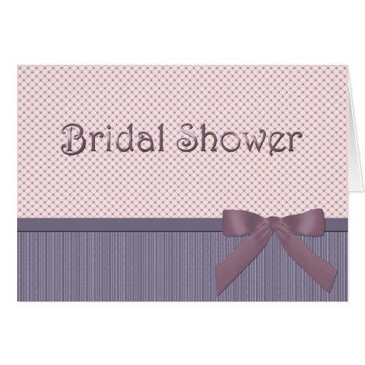 Invitación nupcial de la ducha tarjeta de felicitación
