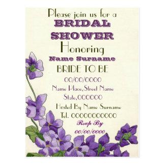 invitación nupcial de la ducha tarjetas postales