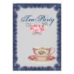 Invitación nupcial de la fiesta del té de la ducha