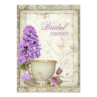 invitación nupcial de la fiesta del té de la ducha invitación 11,4 x 15,8 cm