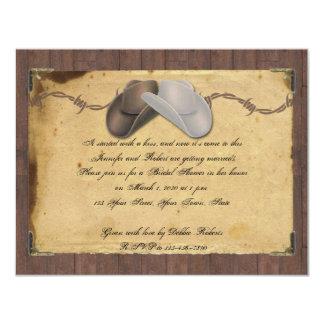 Invitación nupcial de púas de la ducha del gorra