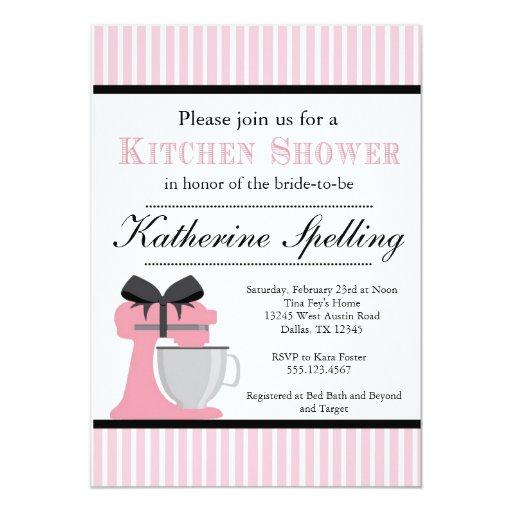 Invitación nupcial del boda de la ducha rosada de