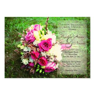 Invitación nupcial del boda del ramo