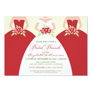Invitación nupcial del brunch de la novia y de las