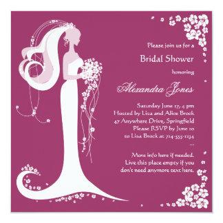 Invitación nupcial del fiesta de ducha de la novia
