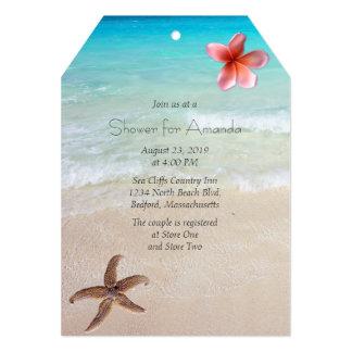 Invitación nupcial del fiesta de ducha de la playa invitación 12,7 x 17,8 cm