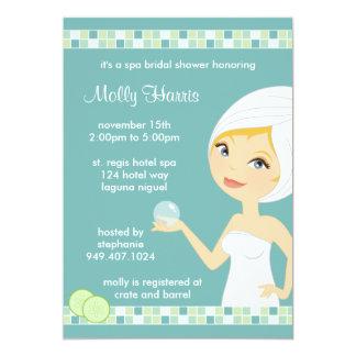 Invitación nupcial del fiesta de ducha del invitación 12,7 x 17,8 cm