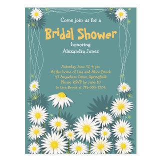 Invitación nupcial del fiesta de ducha del jardín postal
